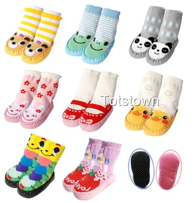 Slipper-Socks-Baby-Toddler-8-designs-2-Sizes-Funky