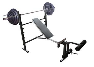 Wide Adjustable Flat Incline Decline Bench Press With 50kg Barbell Set Home Gym Ebay