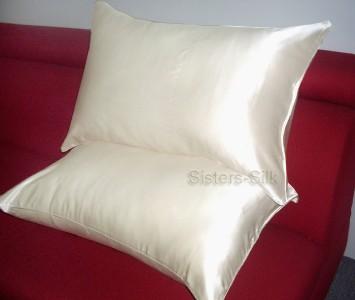 2 tlg 100 seide kissenbez ge 40x80 80x80 30 farben ebay. Black Bedroom Furniture Sets. Home Design Ideas