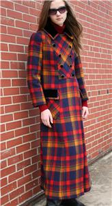 Vintage Long Plaid Maxi Coat from cgi.ebay.com