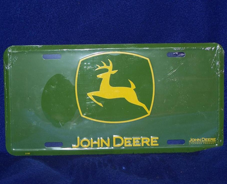 Tractor Car Tags : Green john deere oval license plate car truck auto tag
