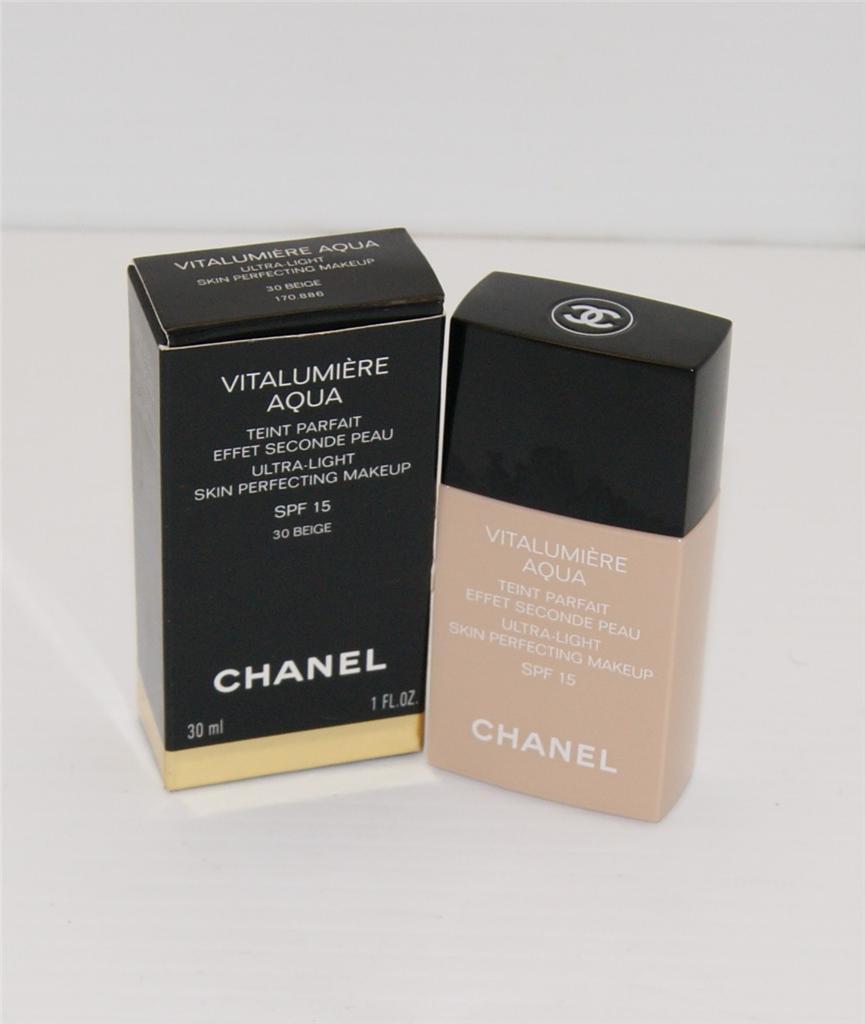 chanel vitalumiere aqua ultra light skin perfecting makeup choose your color ebay. Black Bedroom Furniture Sets. Home Design Ideas
