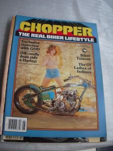 CHOPPER MAGAZINES QTY 4 1977 81 CHOPPERS & BIG BIKES REAL BIKER