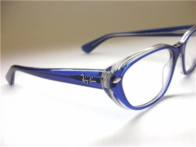 Best Lightweight Eyeglass Frames : RAY-BAN CAT EYE RX5242 5111 TOP LIGHT BLUE ON TRANSPARENT ...