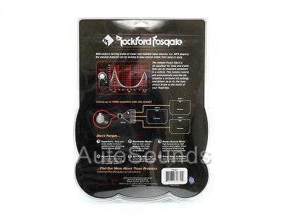 Rockford Fosgate Peqx3 Bass Knob Treble Equalizer Remote