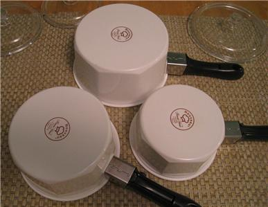 Princess House Nouveau Ceramic Cookware Set Of 3 Covered