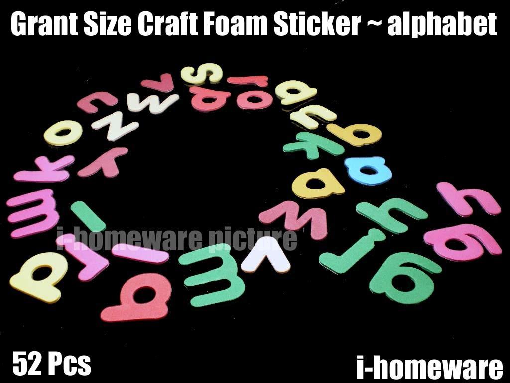50 100 pcs x alphabet letter craft foam 3d crafts self adhesive