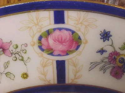 Gorgeous 1918 LIMOGES FLORAL PLATE Bailey Banks Biddle