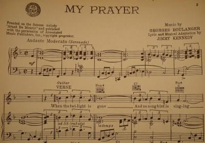 vintage 1939 my prayer sheet music jimmy dorsey