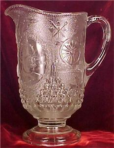 EAPG Antique SPANISH AMERICAN DEWEY WATER PITCHER Nice