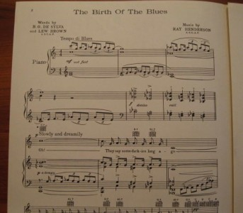 birth of the blues sheet music pdf