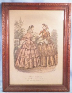 Antique fashion print miroir des modes post civil war era for Miroir des modes