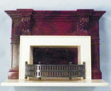 Vintage Ideal Fireplace Dollhouse Furniture Plastic Victorian I 964 1950s Nice