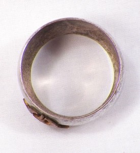 let glasgow flourish napkin ring sterling enamel antique