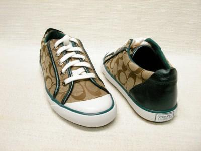 Teal Coach Tennis Shoes