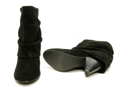 STEVE MADDEN*CARLSEN*BLACK SUEDE ANKLE SLOUCH BOOTS 10M
