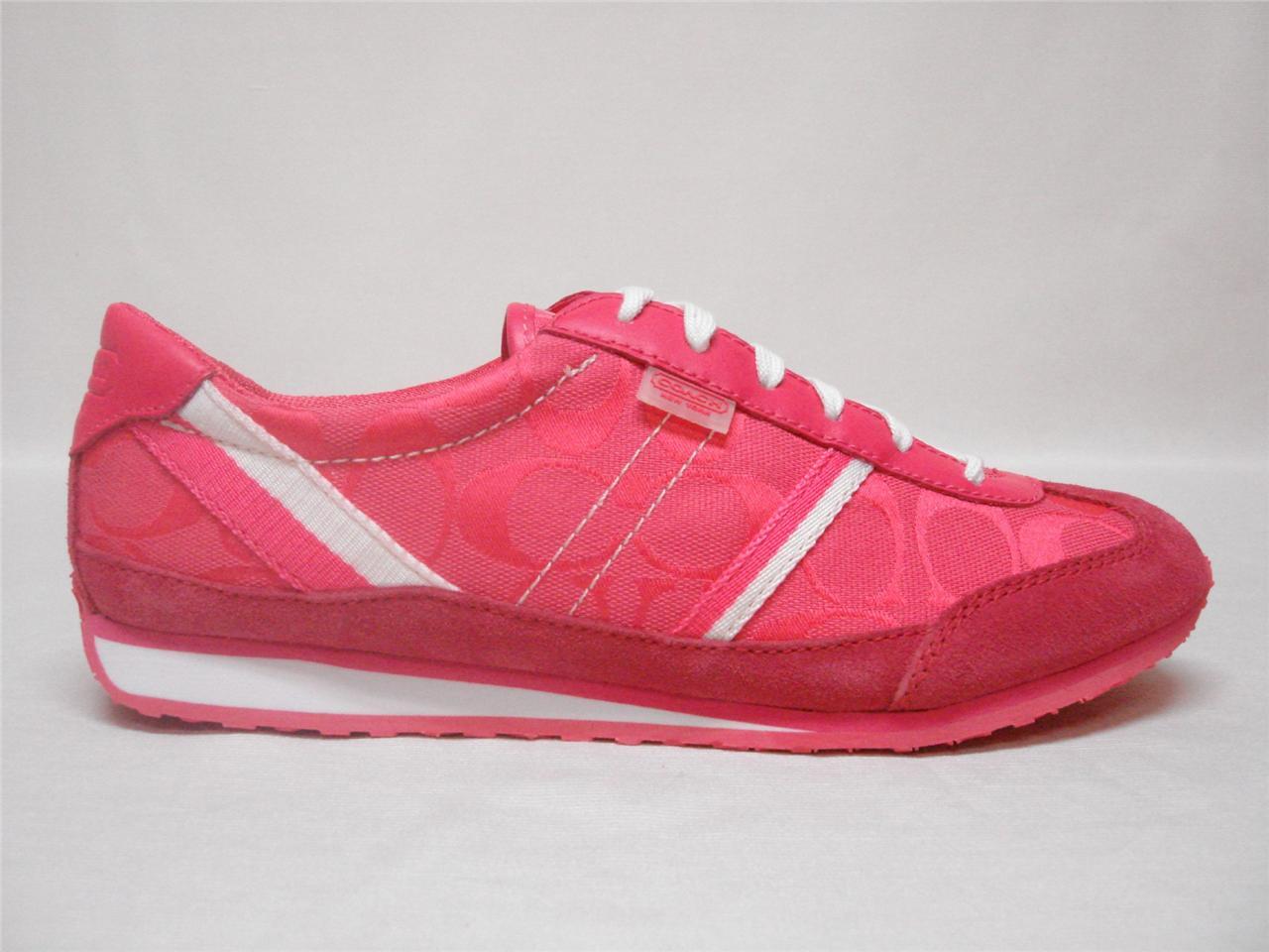 nib coach signature marabelle pink cyclamen sporty tennis