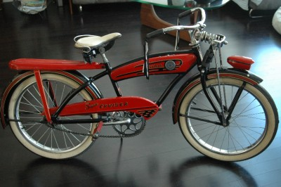 Firestone Super Cruiser Bicycle http://www.ebay.com/itm/1950s-Firestone-SUPER-CRUISER-20-Springer-Tank-BICYCLE-/220966046796