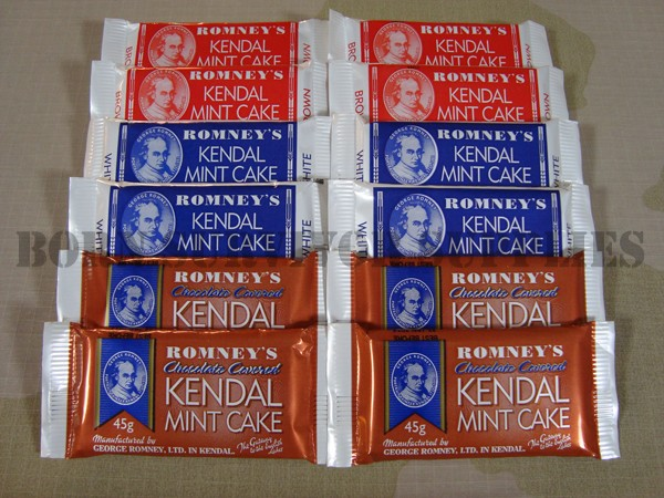 12 x KENDAL MINT CAKE BAR 40g Survival Ration Snack Pack Food Kit Hiking Camping