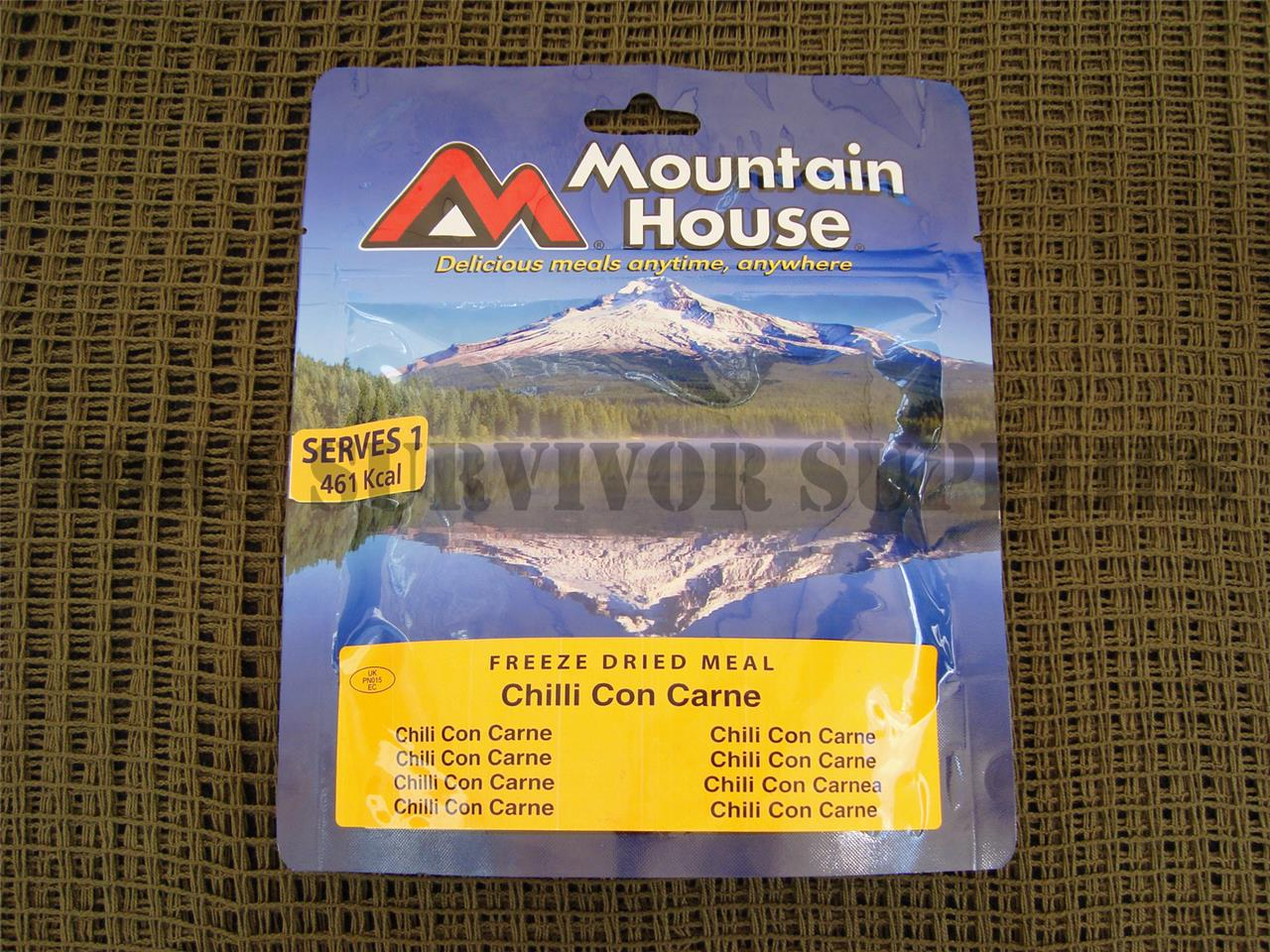 MOUNTAIN HOUSE RATION PACKS - Lightweight Freeze Dried Camping Meals Hiking Food