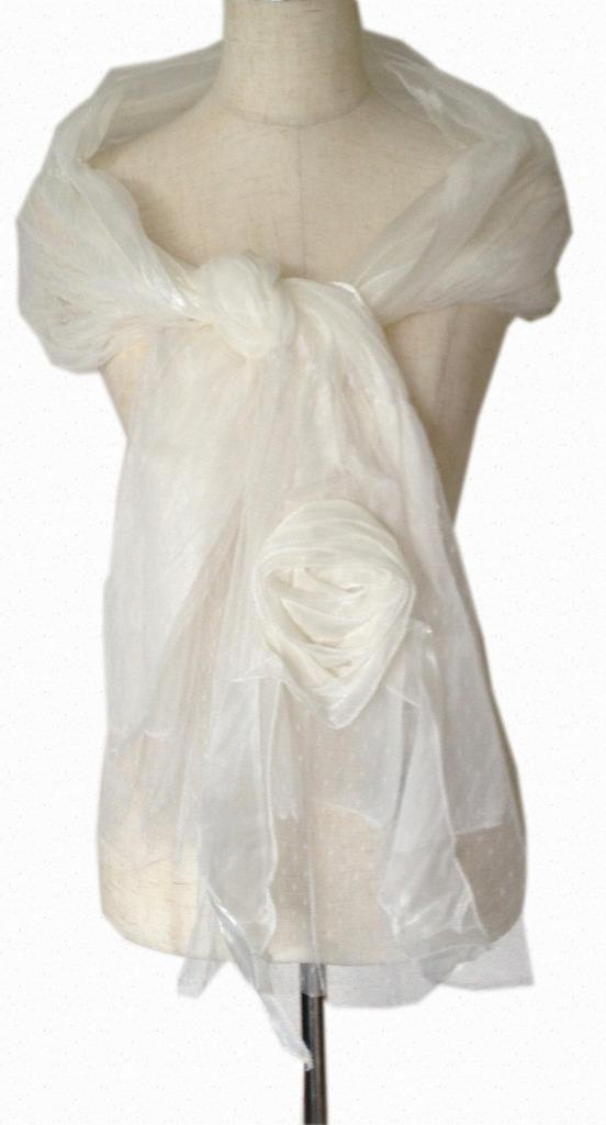 Layered-Net-over-Shimmer-with-Flower-Embellishment-Wedding-Evening-Shawl-Scarf