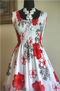 Stunning white hawaiian princess beach wedding dress red for Plus size hawaiian wedding dresses