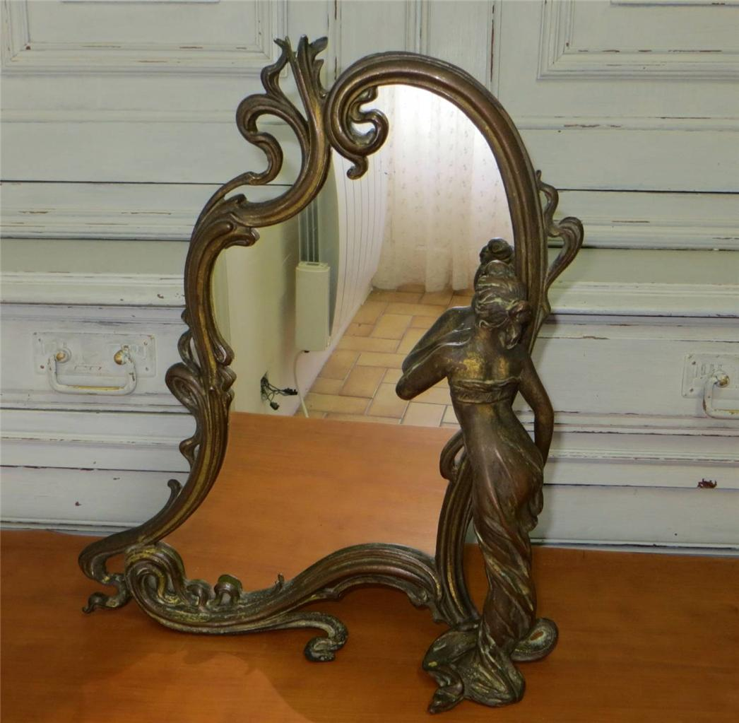wmf liberty orivit maiden art nouveau dressing table toilet vanity mirror ebay. Black Bedroom Furniture Sets. Home Design Ideas