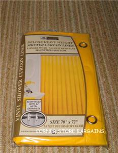 YELLOW Shower Curtain LINER METAL Grommets EBay