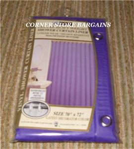 PURPLE Shower Curtain LINER METAL Grommets EBay
