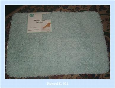 2 Pale Pastel BLUE Memory Foam Shag Bathmat Rugs Bathroom Rug 17 X 24 Q