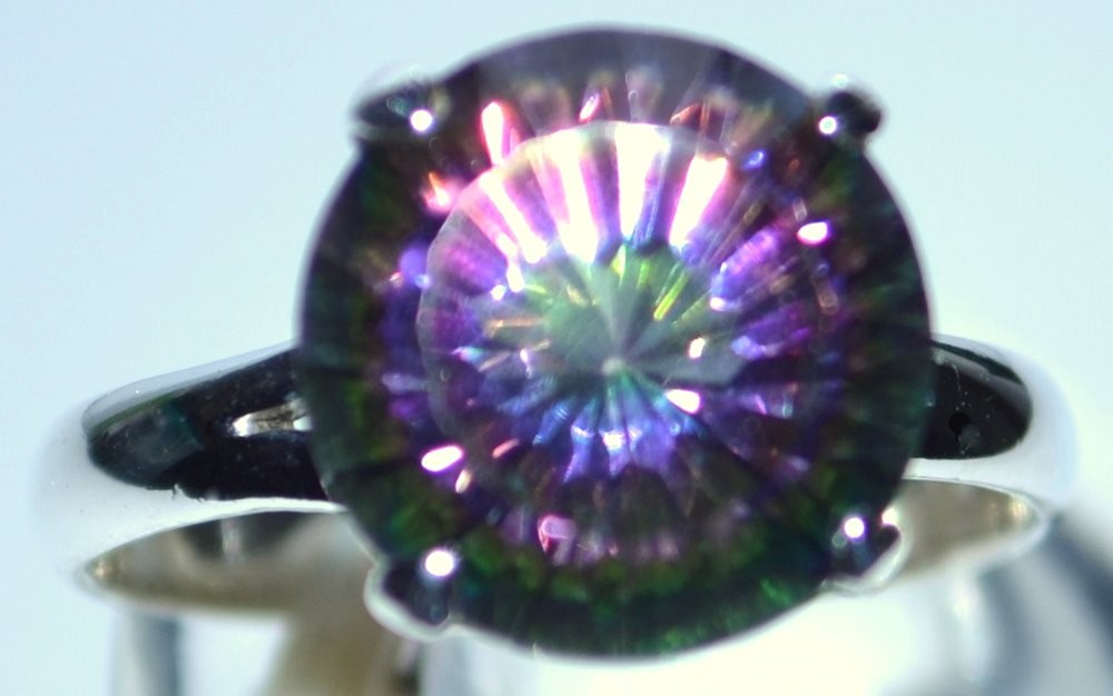 pinterest fire rings size images rainbow best p silver ebay oval mystic plated ring on more topaz