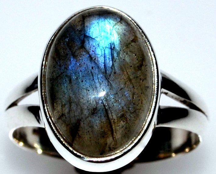 shiny labradorite ring 925 sterling silver real gemstone