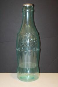 Vintage large plastic coca cola coke glass bottle coin for Plastic bottle coin bank