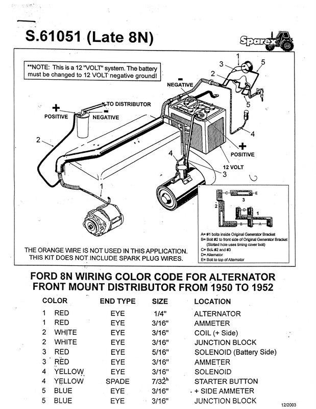 1949 ford 8n tractor wiring diagram to 12 volt conversion 601 ford tractor wiring diagram for 12 volt conversion