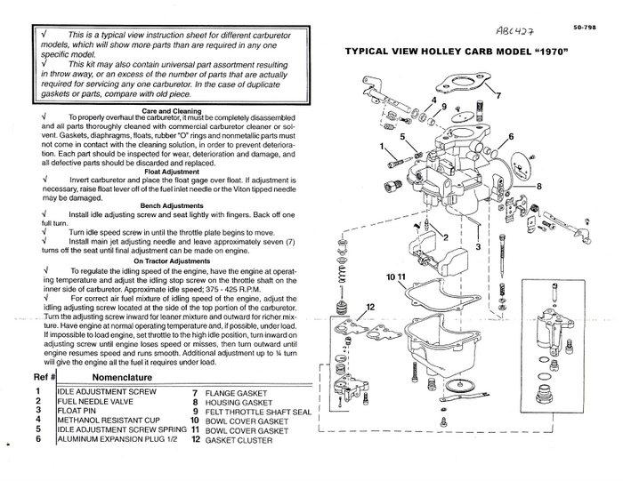 Ford 2000 Tractor Carburetor Diagram : Ford  cyl up holley carburetor