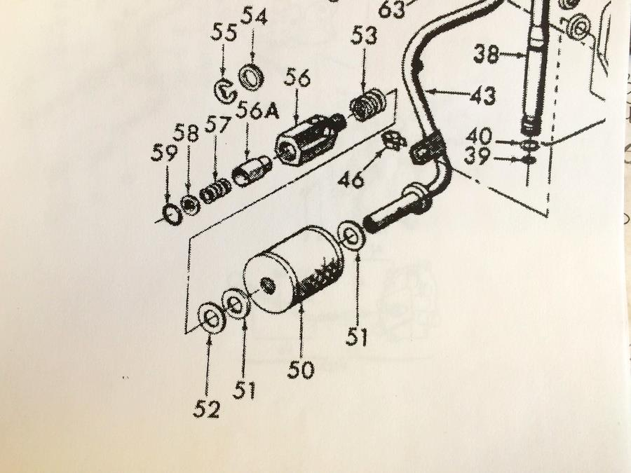 Ford 3000 Hydraulic System Diagram : Ford  hyd filter