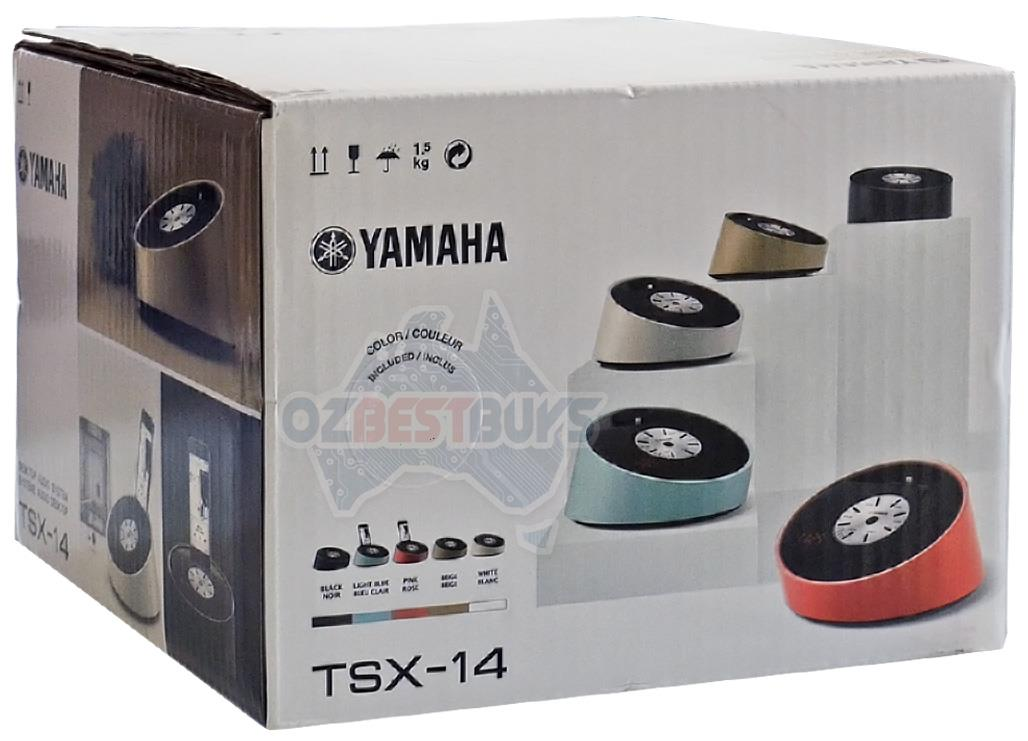 yamaha speaker lightning dock alarm clock fm radio for iphone 6 tsx 14 black ebay. Black Bedroom Furniture Sets. Home Design Ideas