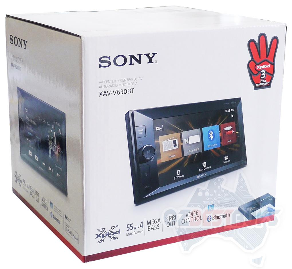 Sony Double Din Car Audio Media Receiver Bluetooth Usb Xav