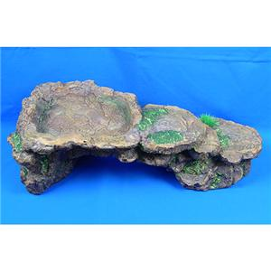 ... 55cm Basking Dock Rock Ornament For Fish Reptile Turtle Tank eBay