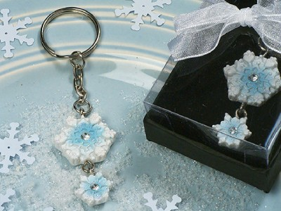 Keychain Wedding Favors on Wonderland Snowflake Keychain Wedding Favors 609728815110   Ebay