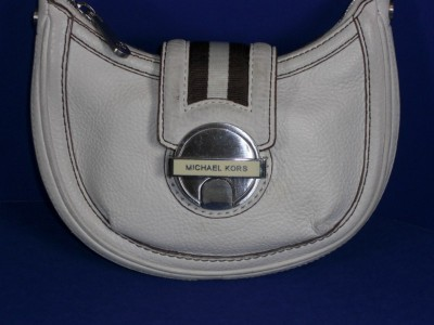 Small Leather Shoulder  on Michael Kors White Small Leather Shoulder Bag Pre Owned   Ebay