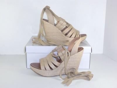 Steve Madden Rapup Tan Espadrille Sandals Shoes 8 M