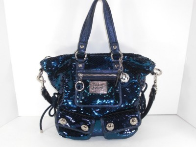 ... about Coach 15383 Blue Sequin Spotlight Tote Handbag Purse Authentic