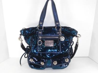 ... about Coach 15383 Blue Sequin Spotlight Tote Handbag Purse Authentic