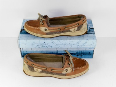 Sperry Women Boat Shoes on Sperry Top Sider Angelfish Brown 8 5 M Womens Flats Boat Shoes   Ebay