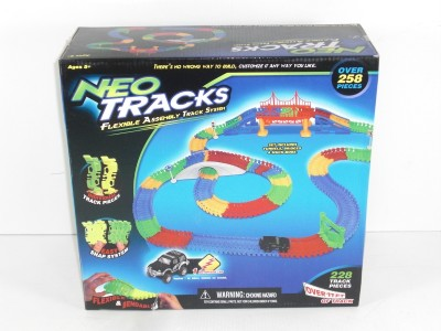Flexible track toy