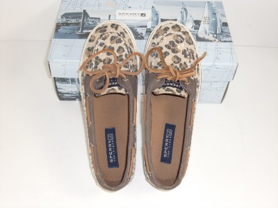Topsiders Shoes on Top Sider Bahama Skimmer 3 5 M Leopard Girls Youth Boat Shoes   Ebay