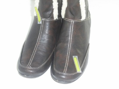 Hush Puppies 8 5 M 40 EU Barbaresco Dark Brown Knee High Boots Womens