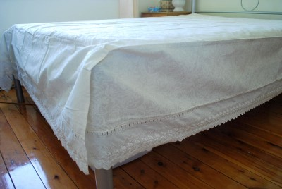 exquisite paisley bed sheet valance embroidery king ebay. Black Bedroom Furniture Sets. Home Design Ideas
