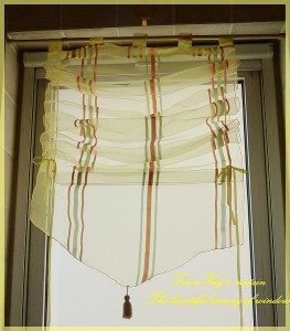 Stripes Sheer Pull Up Curtain Bath Kitchen 60x160cm C Ebay